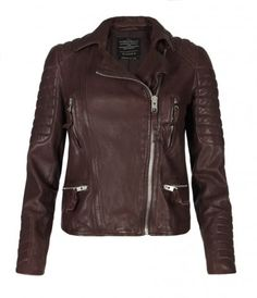 Lt. Abbie Mills's jacket: Oxblood Leather Biker Jacket, Women, Leather, AllSaints Spitalfields