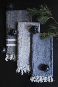 hand-loomed twisted thread, 100% linen hammam towels just in from anatolia. perfect for gift-giving