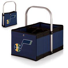 Utah Jazz 'Urban Basket' Collapsible Tote-Navy Digital Print