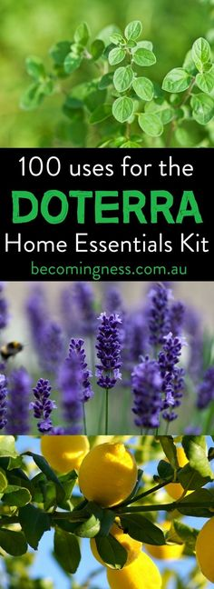 100 uses for the doTERRA Home Essentials Kit: I have put together 10 uses for each of the oils that are included in the Home Essentials Kit. You can make up so many different blends and home-made products using just these oils alone which will replace so many of the items that you buy from the supermarket and pharmacy. WINNING!