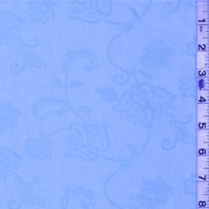 Baby Blue Floral Lawn #15193