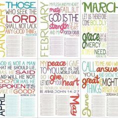 Printable Inspirational Calendar {Free Printable Calendar}