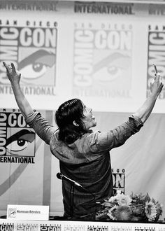 Norman Reedus at The Walking Dead panel, Day 2, SDCC