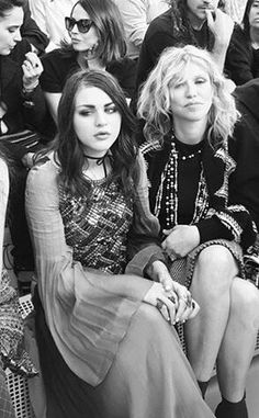 Frances Bean and Courtney Love