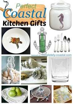 Perfect coastal kitchen gifts. Featured on Completely Coastal: http://www.completely-coastal.com/2014/12/coastal-kitchen-gifts.html Ideas for Everyone!