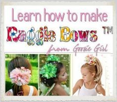 Download Learn How to Make No Sew Raggie Bows by Goosie Girl Sewing Pattern | Baby | YouCanMakeThis.com