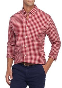 Crown & Ivy™ Men's Long Sleeve Non Iron Shirt - Radiant Red - 2Xl