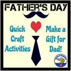 Make a Father' Day craft for a gift for Dad! Need something quick for Father's Day? Several printable activities that are sure to make a father smile on Fathers Day. Kids can make cool hand print gifts and more. Includes : 10 Frames for Best Dad Ever!