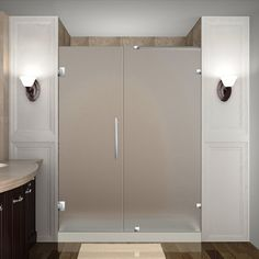 "Found it at Wayfair - Nautis 58"" x 72"" Hinged Completely Frameless Shower Door"
