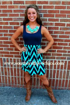 Summer Blues Dress $46.99! #SouthernFriedChics  www.titanoutletstore.com