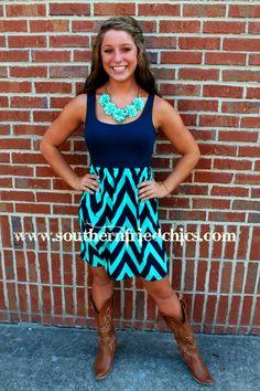 Summer Blues Dress $46.99! #SouthernFriedChics  www.titanoutletstore.com