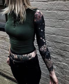 Not sure if this type of design with blended blackwork and traditional colour would work?