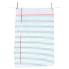 lined paper towel