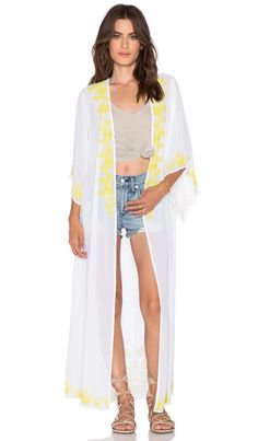New Friends Colony Embellished Kimono in White | REVOLVE