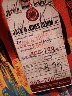 Jack & Jones #hangtag Custom Hang Tags, Swing Tags, Leather Label, Jack Jones, Ticket, Typography, Hardware, Design Inspiration, Branding