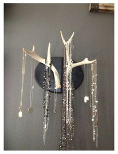 Jewelry organizer. I would do this. And probably get fussed at.