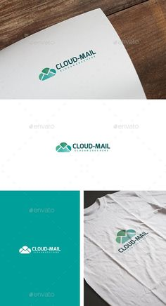 Cloud Mail Logo: Abstract Logo Design Template created by Logo Design Template, Logo Templates, Best Logo Design, Graphic Design, Identity, Text Fonts, Branding, Abstract Logo, Messages