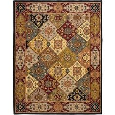 Shop for Safavieh Handmade Heritage Traditional Bakhtiari Multi/ Red Wool Rug (8' x 10'). Get free shipping at Overstock.com - Your Online Home Decor Outlet Store! Get 5% in rewards with Club O!