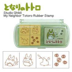 Studio Ghibli My Neighbor Totoro Mini Rubber Stamp Set (Type 2)【Stationery】