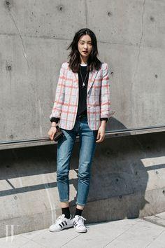 KOREAN MODEL • Street style: Kwak JI Young at SFW Fall 2016