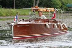 """Princess Paige"""" – John Allen's award winning 1926 Earl C. Barnes launch, the first boat ever built by Earl C. Barnes after leaving the Minett-Shields Boat Co."""