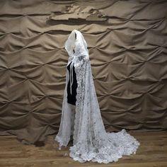 Wedding cape with hood Wedding Cape, Wedding Jacket, Bridal Cape, Long Wedding Dresses, Tulle Wedding, Ivory Wedding, Formal Prom, Formal Wedding, Chapel Veil