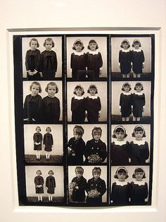 "Contact Sheet, ""Twins"" by Diane Arbus. Diane Arbus, Eugene Atget, Contact Sheet, Pose, Famous Photographers, Portraits, Gcse Art, Jolie Photo, Human Condition"