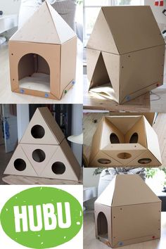 If you have a cat like I do you know that they love cardboard and somewhere to play and sleep. Sleep, Bird, Play, Building, Creative, Outdoor Decor, Home Decor, Homemade Home Decor, Buildings