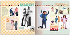 March starts with SUPERHERO super fun_myProjectLife 2012 (Shutterfly Clementine Edition)