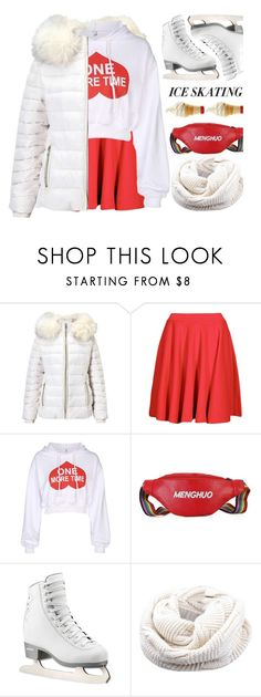 """Ice Skating Outfit"" by meyli-meyli ❤ liked on Polyvore featuring Miss Selfridge, Boohoo, iceskatingoutfit and gamiss"