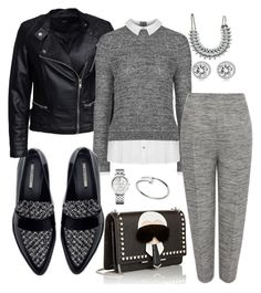 """Casual Friday"" by bourgeoisiemind on Polyvore featuring Zara, Cartier, Sisters Point, Topshop, Alexander McQueen, Fendi, Tommy Hilfiger and Michael Kors"