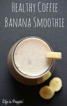If you aren't a morning person (like me) this Healthy Coffee Banana Smoothie just might change your mind.