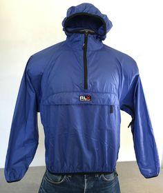 POLO SPORT Windbreaker Ralph Lauren RLX Jacket Nylon Blue Men's Large Excellent! #PoloRalphLauren #Windbreaker