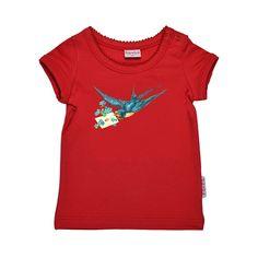 ba*ba kidswear T-shirt vogel met brief #EKOkatoen #GOTS #duurzaam ekodepeko.nl