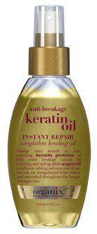 Organix Anti-Breakage Keratin Oil Instant Repair Weightless Healing Oil 4oz : all styling products