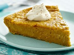 Enjoy this impossibly easy pumpkin pie using Bisquick® gluten free mix for the holidays.