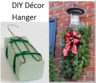 DIY Decor Hanger. What a simple way to hang floral arrangements outside.
