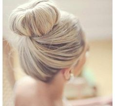 Wedding bun... would suit me since my hairs always in a bun!!!!!