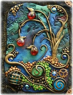 "Polymer clay book cover   beauty-belleza-beaute-schoenheit: "" via Imgfave for iPhone "" Gabrielle Pollacco,"