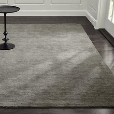 Baxter Grey Wool Rug | Crate and Barrel