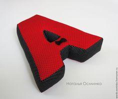 Купить Буквы-подушки, 25 см - ярко-красный, буквы-подушки, интерьерные слова