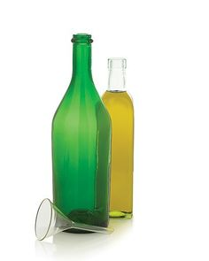 Drink Up! 12 Clever Ways to Reuse Empty Wine Bottles - Sunlight and olive oil don't mix. In fact, exposure to sunlight will turn the oil rancid over time. So here's a Good Thing: Decant the oil into a dark-tinted bottle.