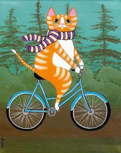 ;)gato em bicicleta