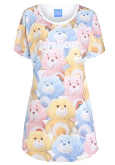 Clothing at Tesco | Care Bears Printed Sleep T-Shirt > nightwear > Nightwear & Slippers > Women
