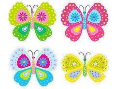 Stickers Infantiles Pared Mariposas de Colores 01767