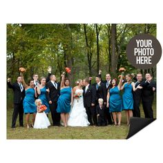 Create photo magnets for your bridal party with our DIY cards! #DIY #wedding #peartreegreetings