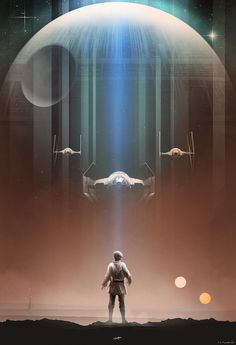 Official Star Wars Skywalker Print from Andy Fairhurst