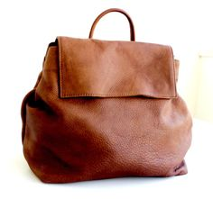 Brown leather backpack convertible , distressed leather backpack purse by BarLeather on Etsy https://www.etsy.com/listing/233563266/brown-leather-backpack-convertible