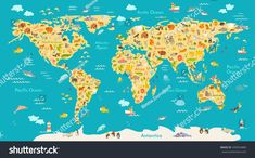 Janod magnetic world map amazon toys games map pinterest animal map for kid world vector poster for children cute illustrated preschool cartoon gumiabroncs Choice Image
