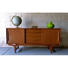 Image of Mid-Century Modern Media Stand Credenza